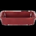 Plat à four rectangulaire en grès rouge sumac 26x18cm-ALVARA