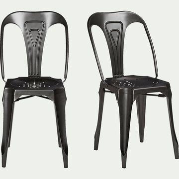 Chaise en métal gris anthracite-INDUS