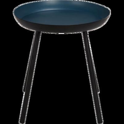 Bout de canapé en acier bleu figuerolles-SOUFIO