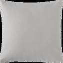 Coussin en simili gris borie 43x43cm-BETON