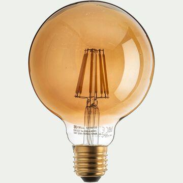 Ampoule déco LED à filament globe - teinte grise 13,50cm-GLOBE