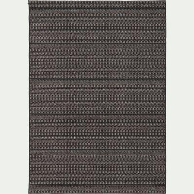 Tapis d'extérieur à motifs noir 200x290 cm-FUVEAU