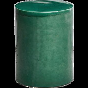 Bout de canapé d'extérieur en céramique verte-Modène