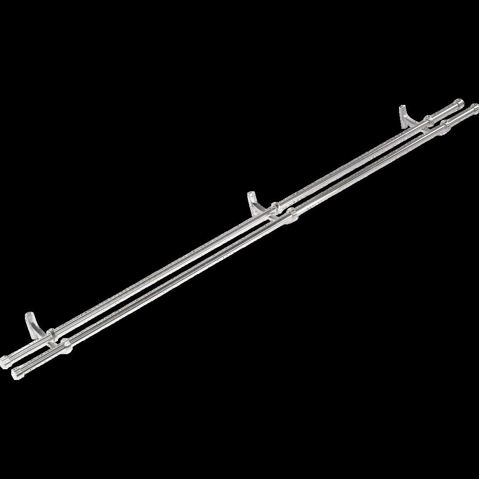 Tringle double extensible 120 à 210cm-Paddy