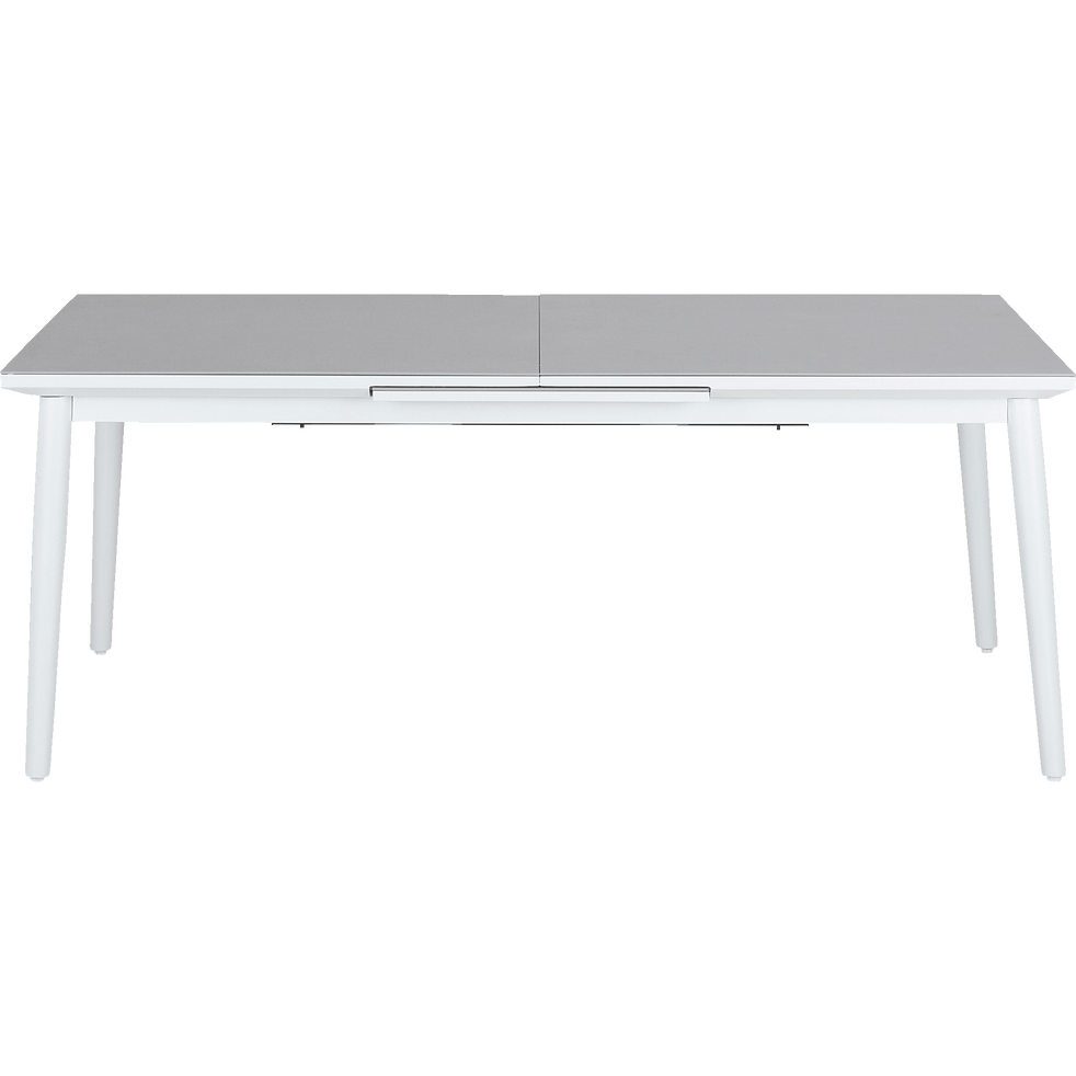 BONIFACIO - Table de jardin extensible en aluminium et verre (6 à 10 places)