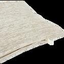 Coussin carré beige roucas 40x40cm-EARLY