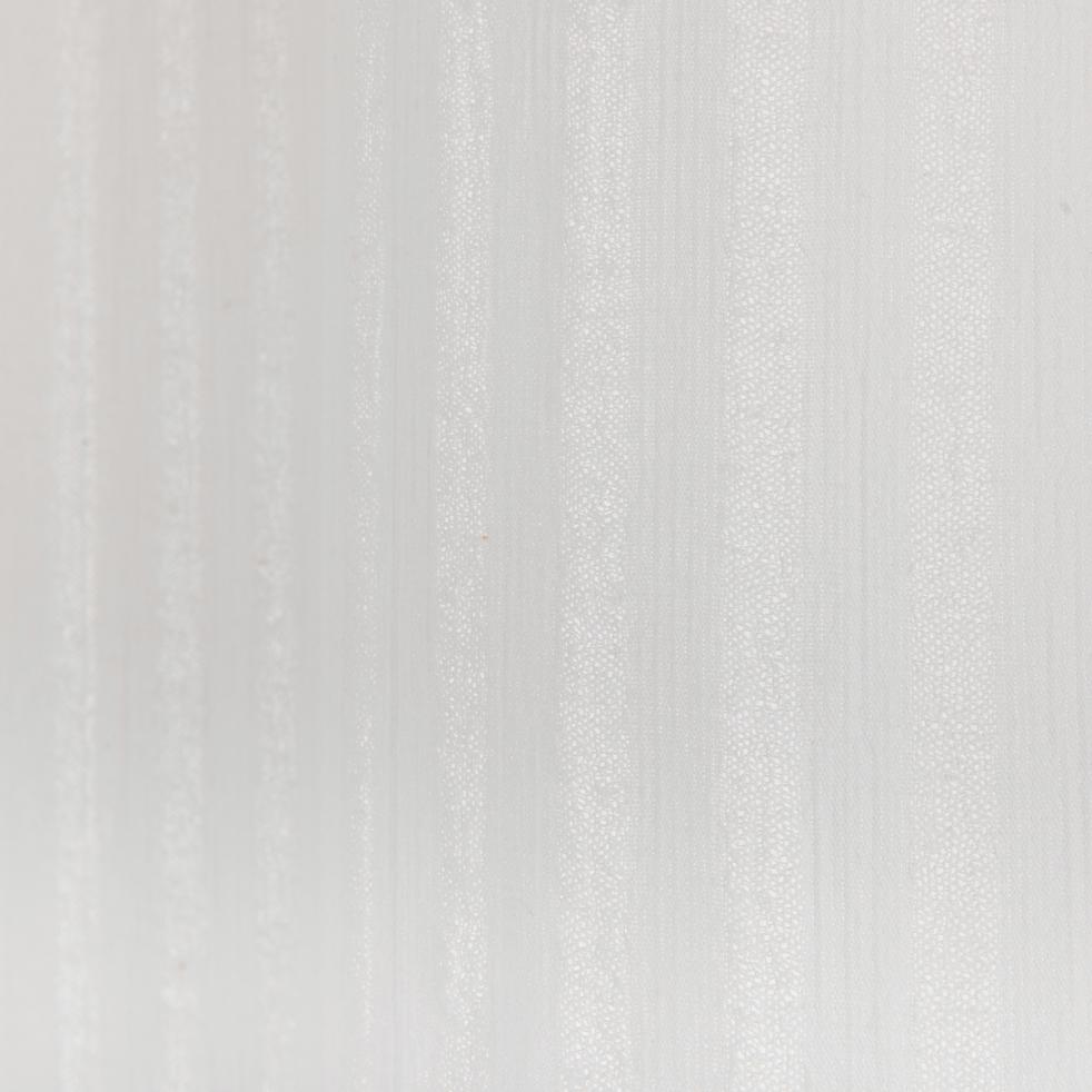 Voilage en coton blanc 140x250cm-LEANA