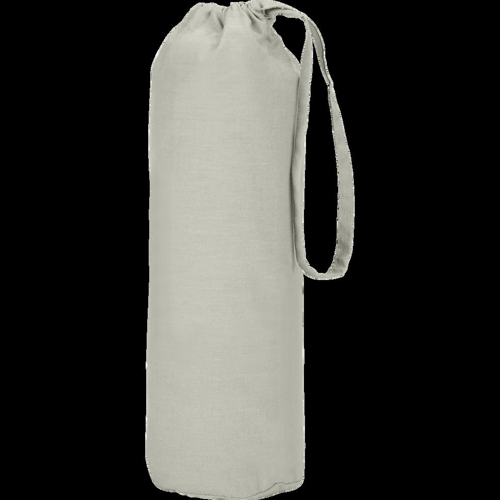 Drap housse en coton Vert olivier 140x200cm -bonnet 30cm-CALANQUES
