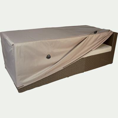 Housse de protection pour canapé de jardin 3 places - beige alpilles - (L230x90xH60cm)-RIANS