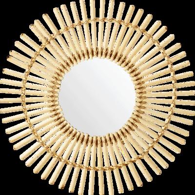 Miroir soleil en bambou D60cm-EMMA
