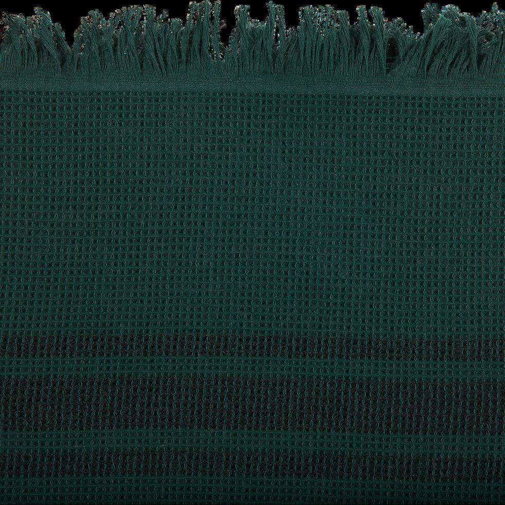Drap de plage fouta vert cèdre-GRINO