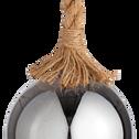 Suspension corde et boule en verre LED D20cm-PERAS