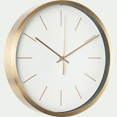 Horloge en aluminium - blanc D25cm-Bonn
