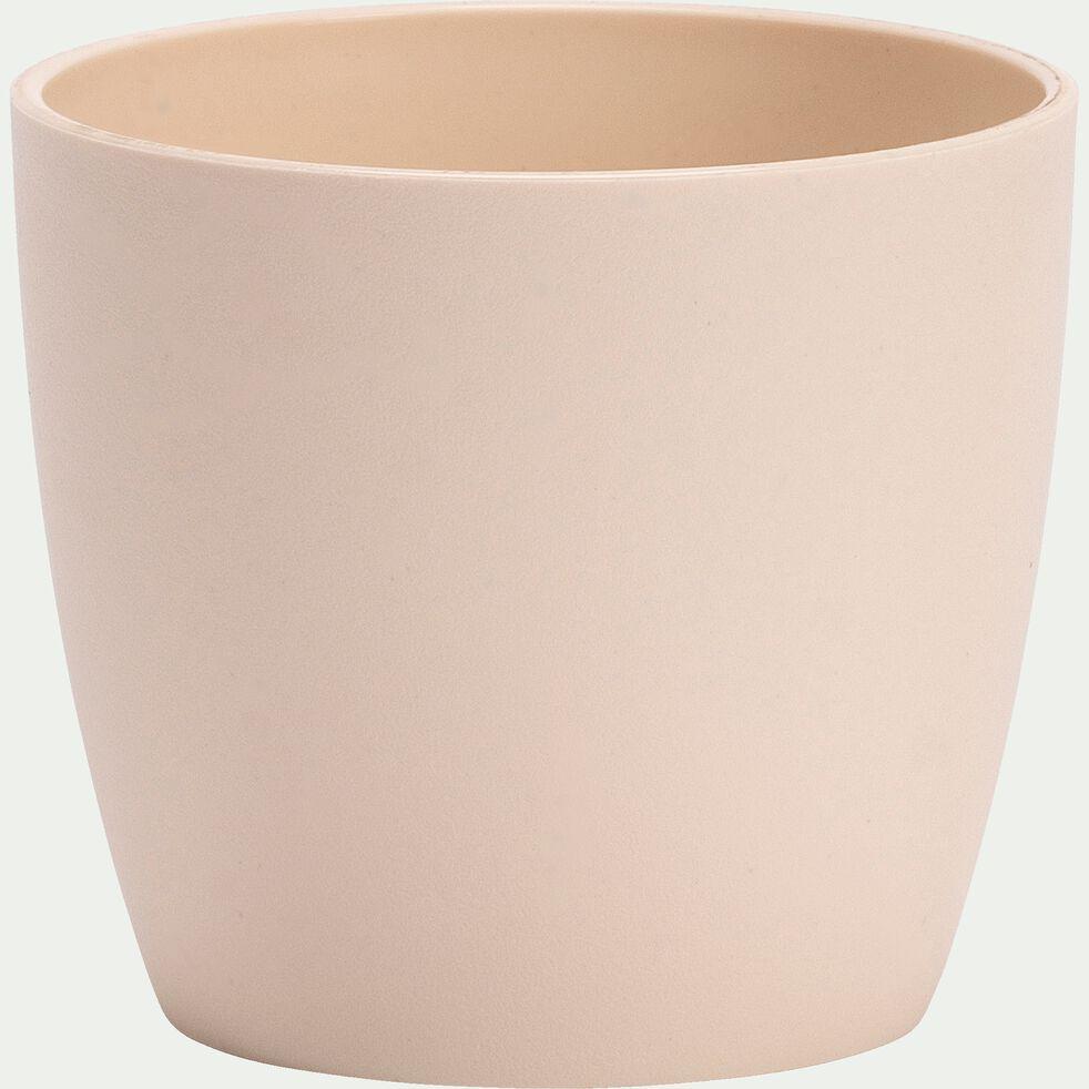 Cache-pot en plastique H6xD6,7cm - blanc écru-BRUSSELS