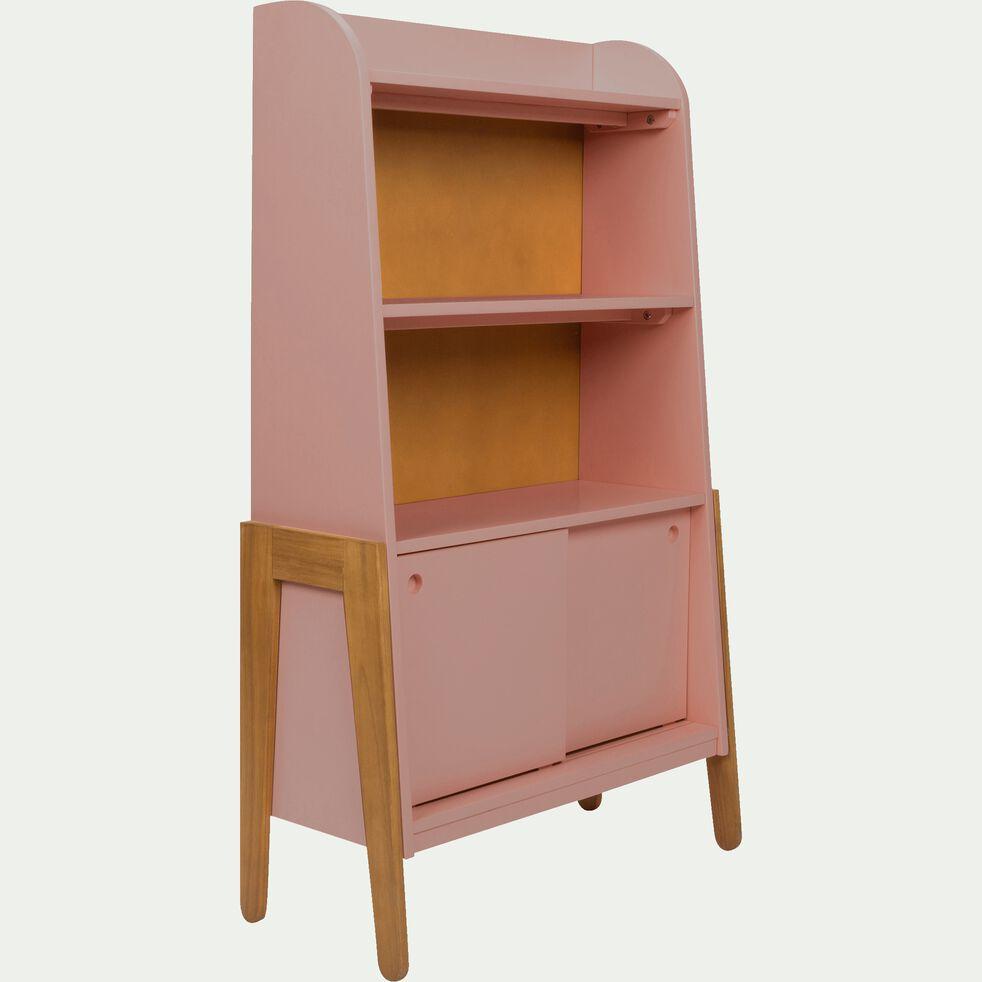 Bibliothèque en acacia pour enfant - rose-Raphael
