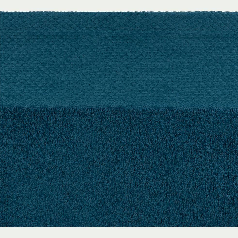 Linge de toilette en coton peigné- bleu figuerolles-AZUR