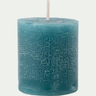 Bougie votive coloris bleu niolon H4,5cm-BEJAIA