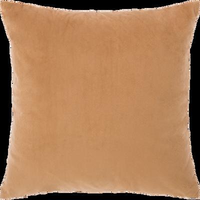 Coussin plissé camel 45x45cm-GAMY