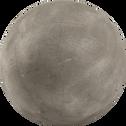 Boule décorative d'extérieur en résine grise D26cm-ATLAN
