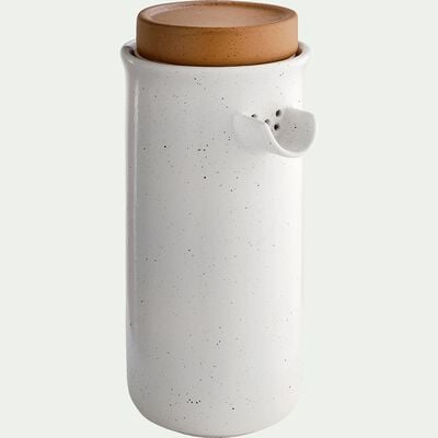 Théière en faïence blanc et marron 1,5L-TUP