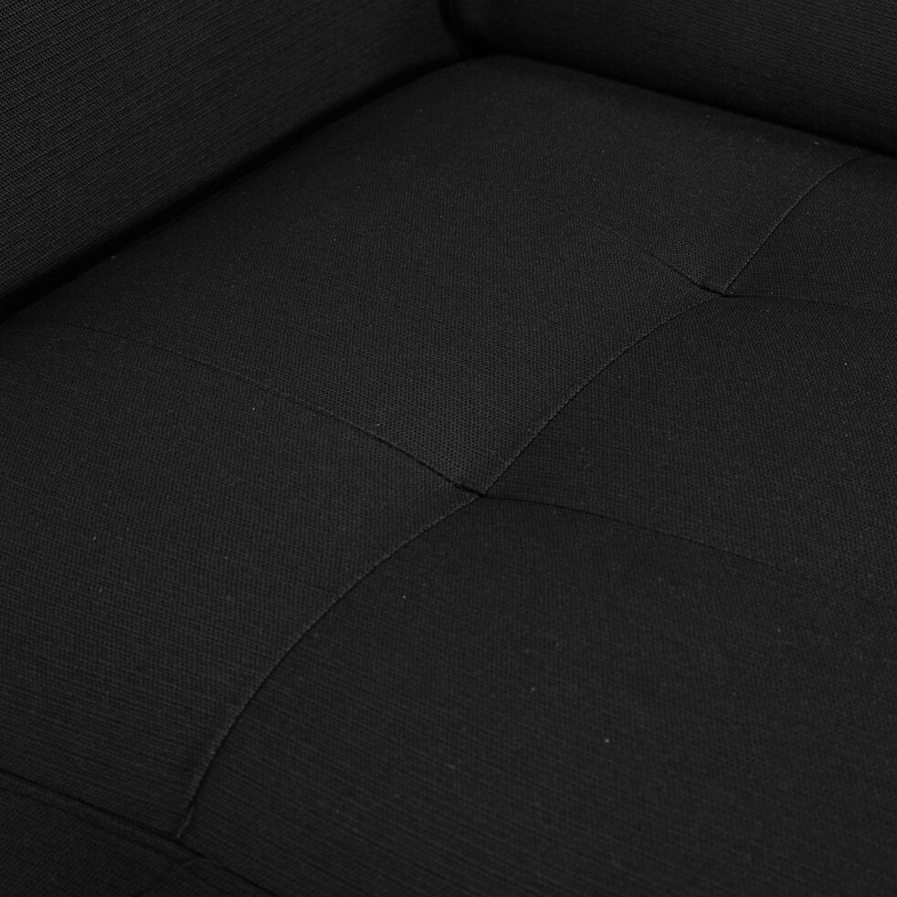Canapé 4 places convertible en tissu avec angle réversible et accoudoir 15cm - gris anthracite-MAURO