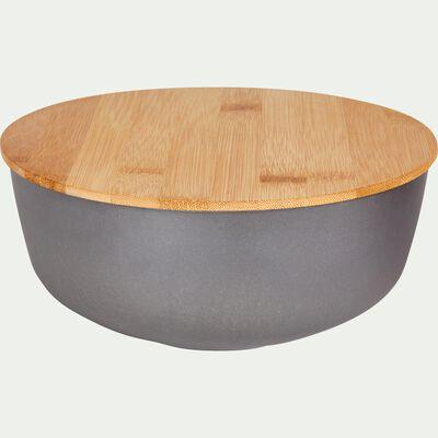 Saladier en fibre de bambou gris D20,5cm-TREZ