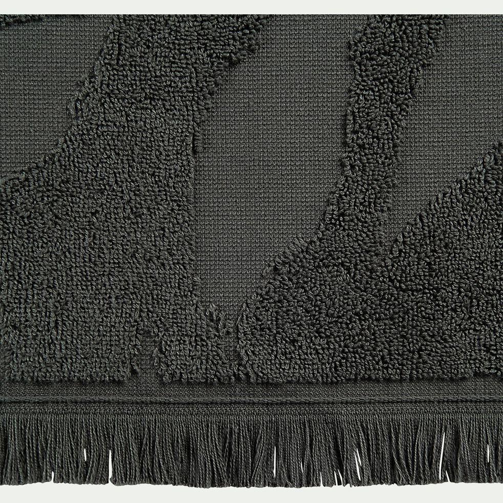 Drap de douche en coton - vert cèdre 70x140cm-Ryad