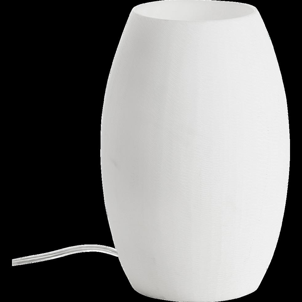 Lampe à poser en résine blanche H24cm-ULTY