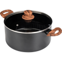 Faitout en aluminium noir D24cm (tous feux dont induction)-PADENA