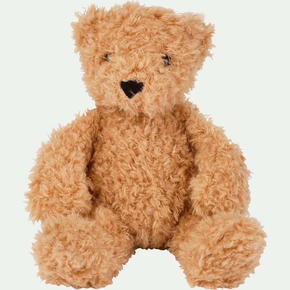 Peluche ours - marron clair h27cm-Theodore