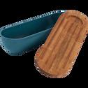 Boîte à pain en bambou bleu niolon-FOUGAS