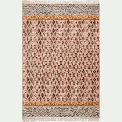 Tapis aux inspirations indiennes - orange 160x230cm-JAIPUR