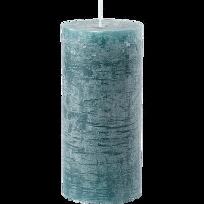 Bougie cylindrique coloris bleu niolon D7xH15 cm-BEJAIA