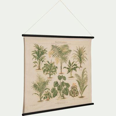 Kakémono vintage botanique en lin 77x100cm-Makati