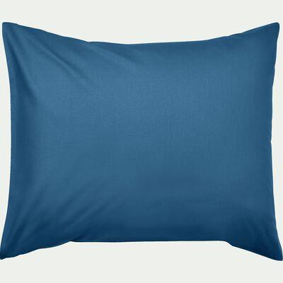Taie d'oreiller bébé en coton 35x45cm - bleu figuerolles-Calanques