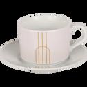 Coffret de 4 tasses en porcelaine blanche 16cl-SIGNATURE