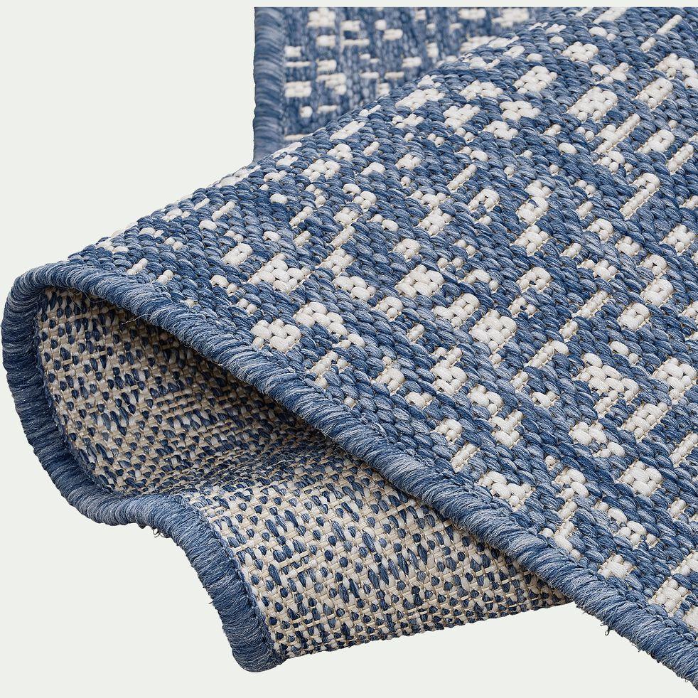 Tapis intérieur et extérieur - bleu 120x170cm-lana