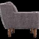 Canapé 3 places fixe en tissu gris restanque-ROUCAOUS