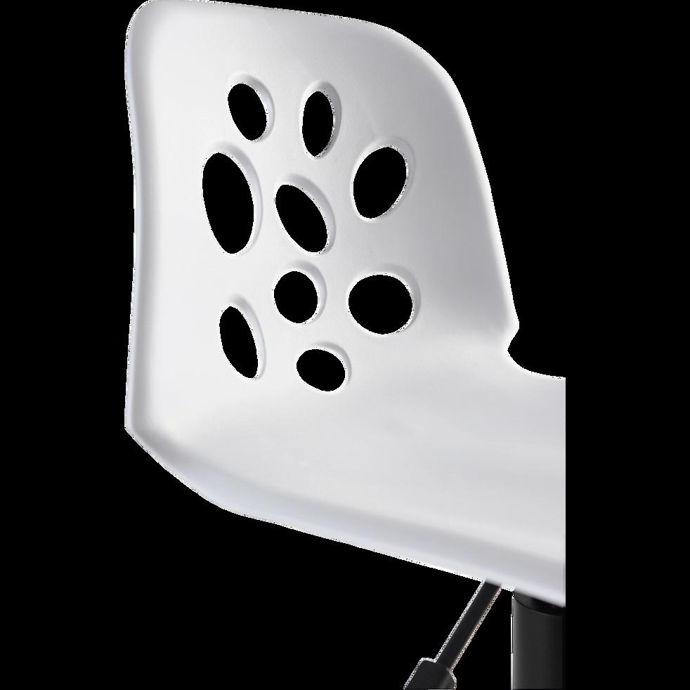 Chaise de bureau enfant blanche-LYLY