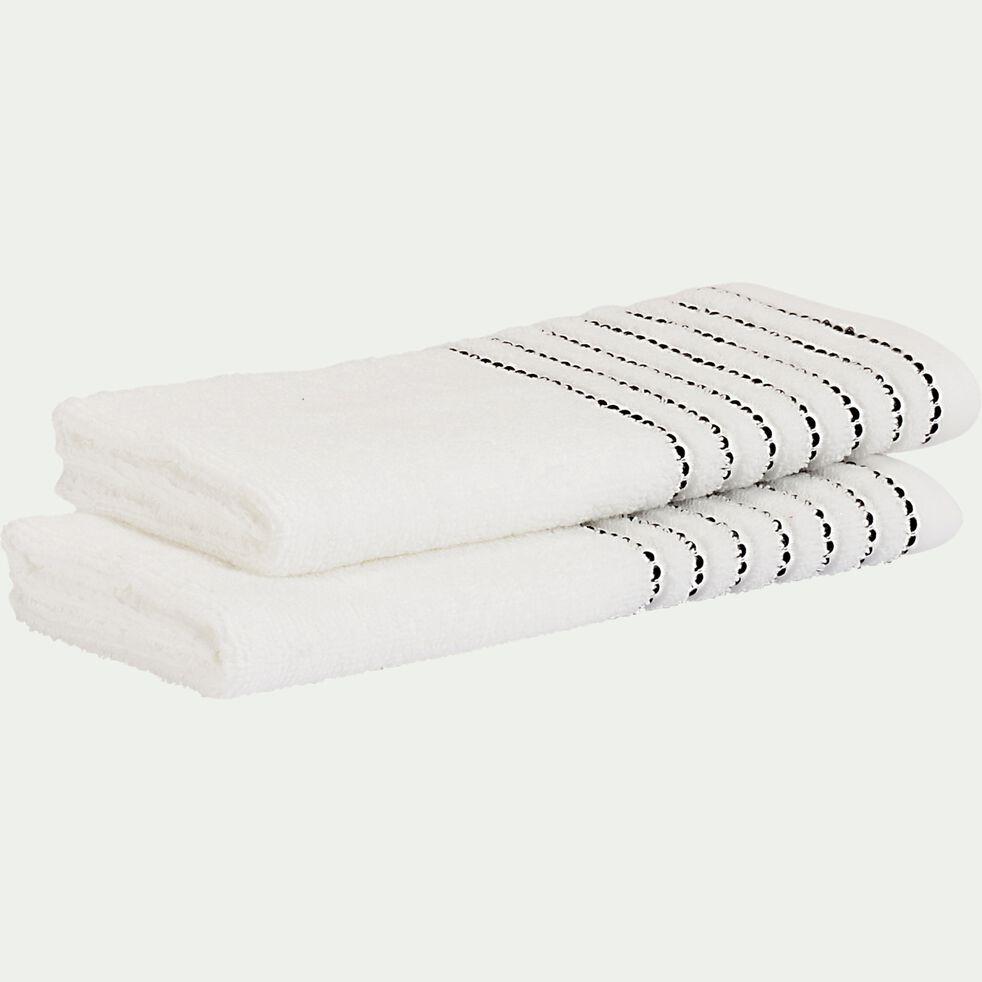 Serviette invité en coton - blanc ventoux 30x50cm-Rhodes