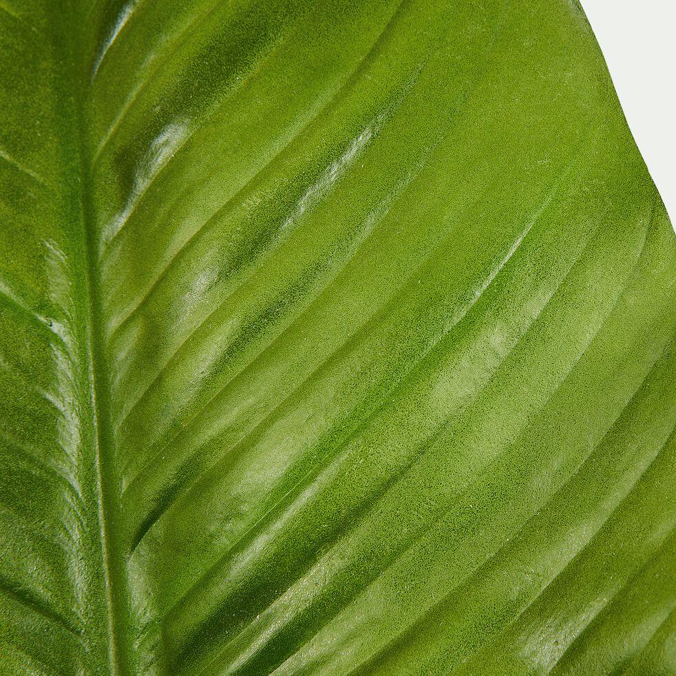 Feuille artificielle - vert H35,5cm-Rhodo