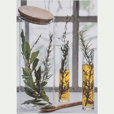 Toile imprimée herbes aromatiques 50x70 cm-ARABAN