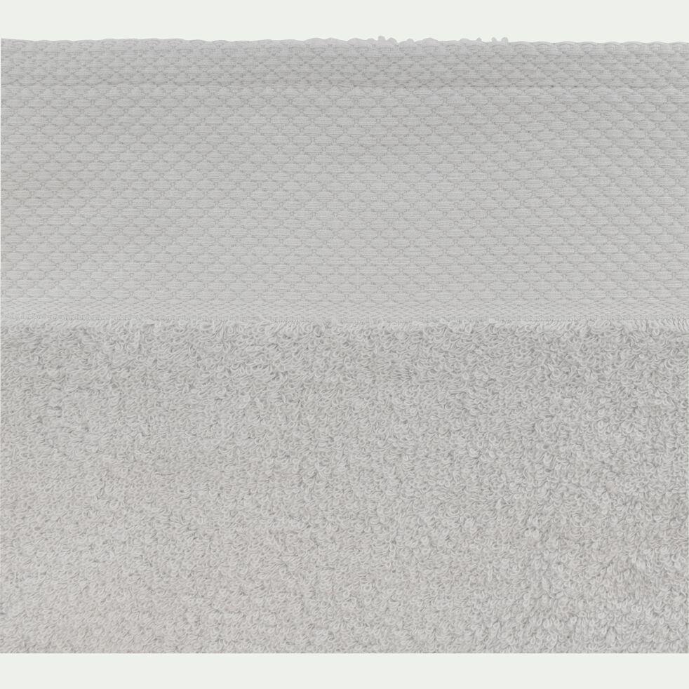 Drap de bain en coton peigné - gris borie 100x150cm-AZUR