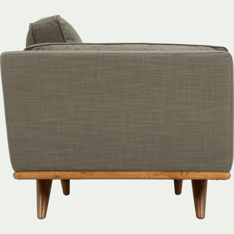 Canapé 2 places fixe en tissu kaki cèdre-ASTORIA