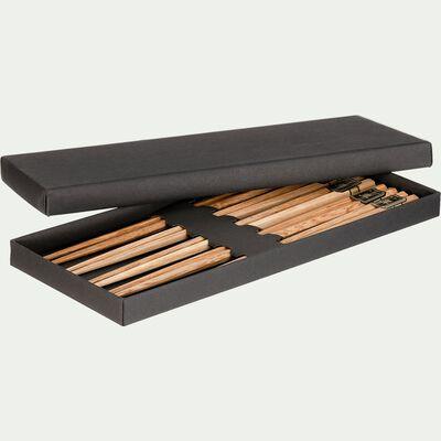 Coffret de 5 lots de baguette en bois-SQUAM