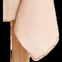 Nappe en lin et coton rose grège 170x250cm-NOLA