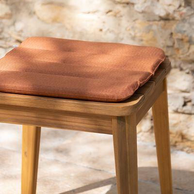 Galette de chaise indoor & outdoor en tissu déperlant - marron rustrel-KIKO