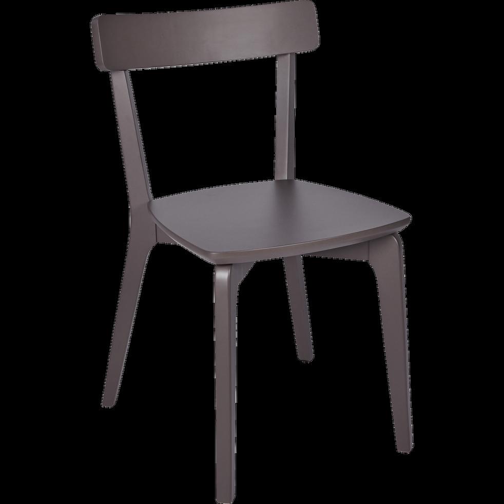 Chaise en bois marron ombr suzie chaises de salon - Chaise de salon en bois ...