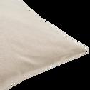 Coussin de sol en coton beige alpilles 70x70cm-CALANQUES