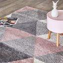 Tapis à motifs géométriques - rose 160x230cm-OSLO
